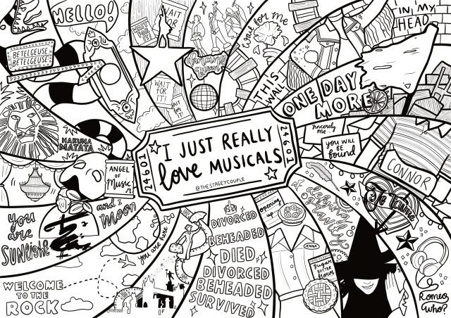 Printable Colouring Sheets! – The Stagey Couple